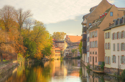 Along the Ill River in Strasbourg, France