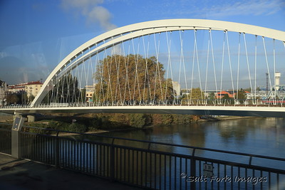 Lots of cool bridges span the Rhine River between Germany and France at Strasbourg.