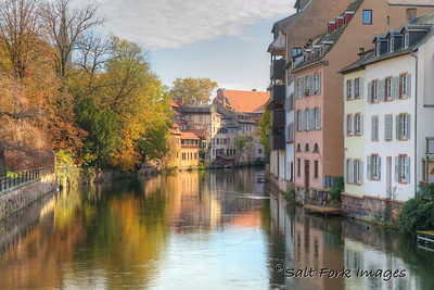 Reflections on the Ill River - Strasbourg, France