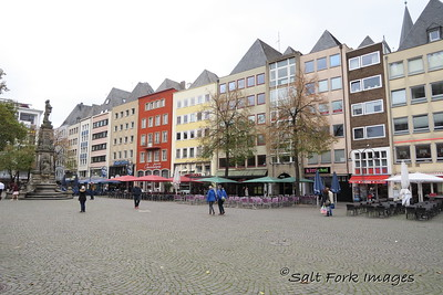 Old market square in Cologne, Germany