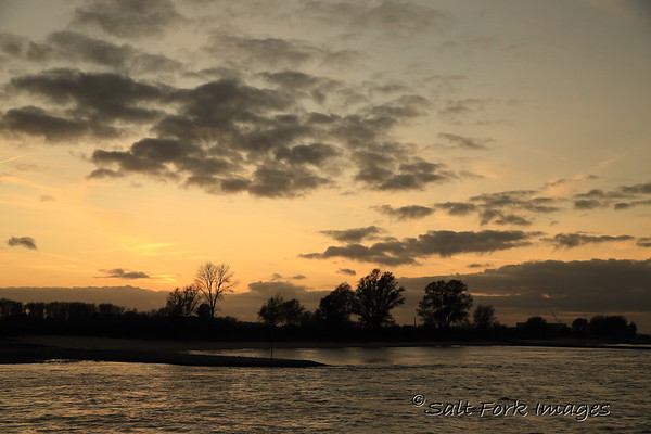Sunset along the Waal River - The Netherlands