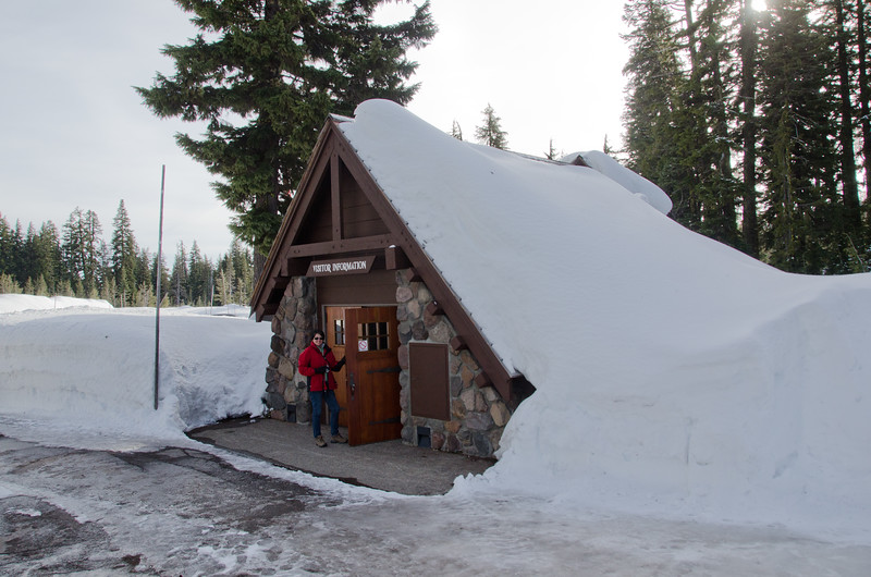 """""""Snow tunnel"""" entrance to the visitors center"""