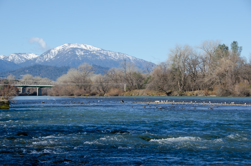 Sacramento River under Sundial Bridge