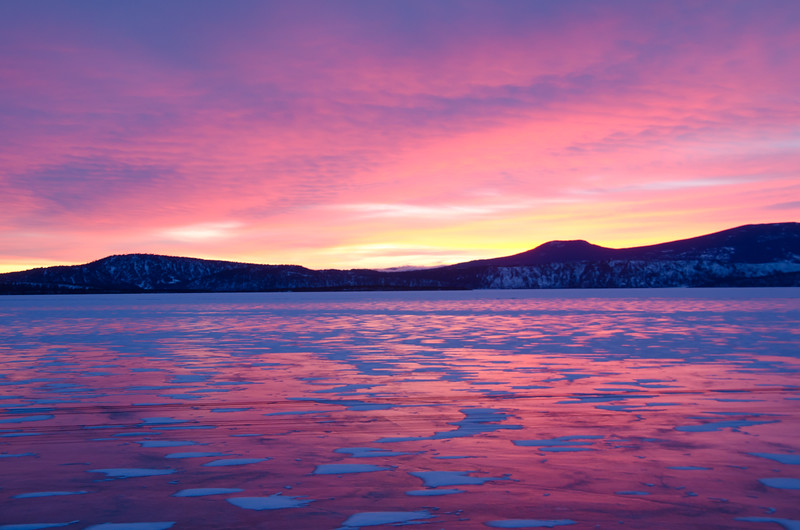 Sunset on Upper Klamath Lake