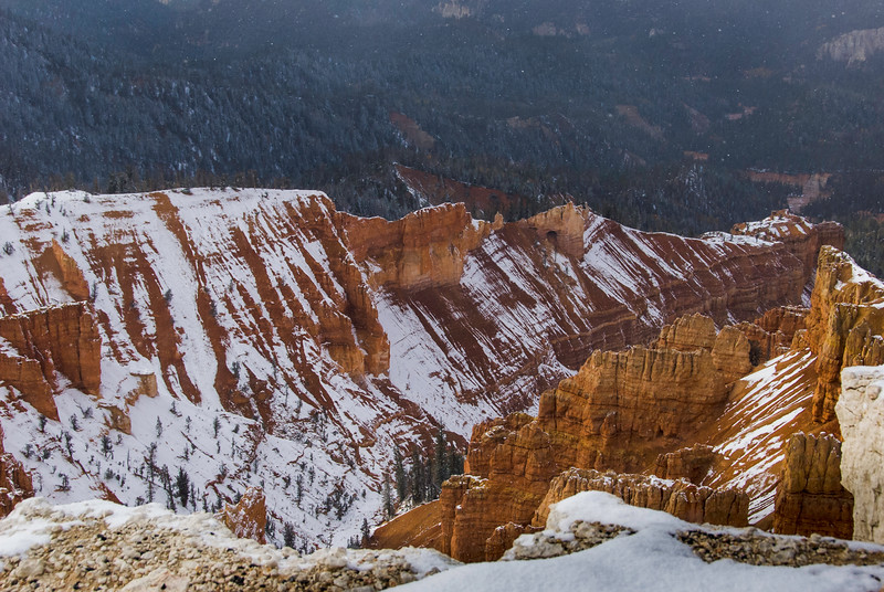View from the Cedar Breaks visitors center. Watch your step!