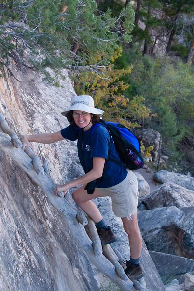 Kathy Makes the Climb