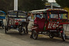 Motorcycle rickshaws are the local taxis in Dumaguete