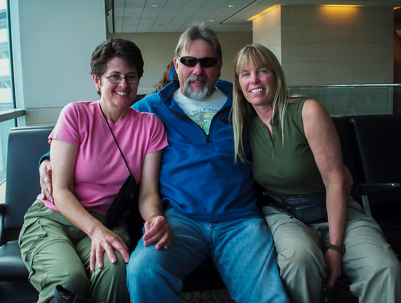 Chris, Kathy, and I heading to The Philippines