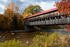 Albany Covered Bridge, Albany, New Hampshire - This bridge, which spans the Swift River, was originally built in 1858.  (2009NE-1923)