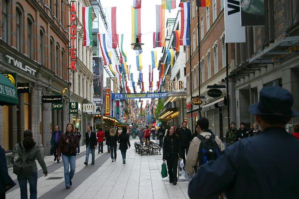 Tourist area in Stockholm