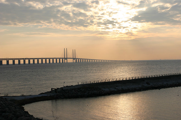 This is the bridge connecting Copenhagen, Denmark, to Malmo, Sweden.