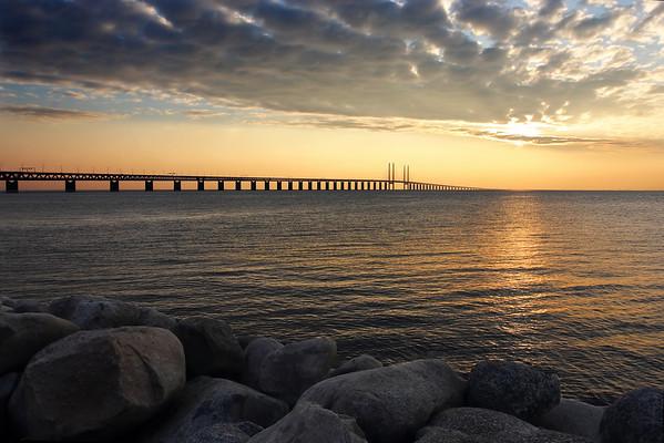 This is the bridge connecting Copenhagen, Denmark, to Malmo, Sweden.
