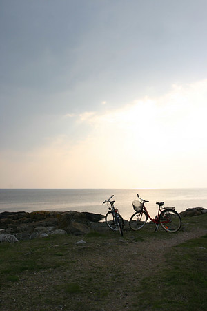 bicycles by the sea