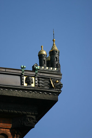 Details of City Hall, Copenhagen, Denmark