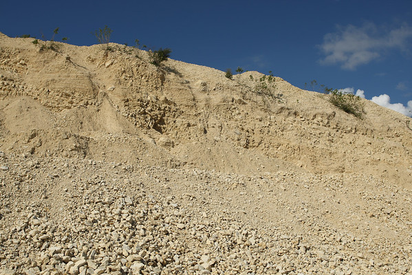 This is where it all begins:  High-grade limestone.