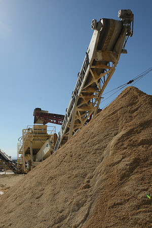 High-quality, silt-free sand ready for block making.