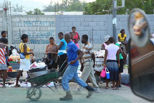 Market day in Port Au Prince, Haiti.  Everyone has something to sell or trade.