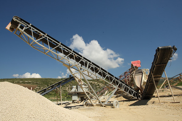 Crushing rock at Topline Materiaux de Construction, Haiti.