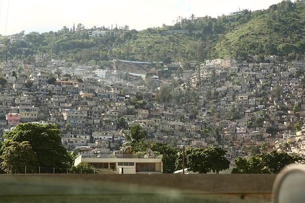 A hillside slum in Port Au Prince, Haiti.