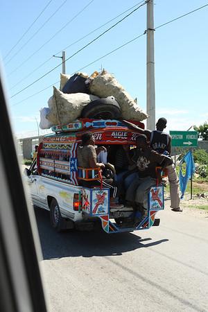 Tap-tap:  Haitian taxicab.