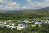 A valley covered with Mission of Hope homes - Leveque, Haiti