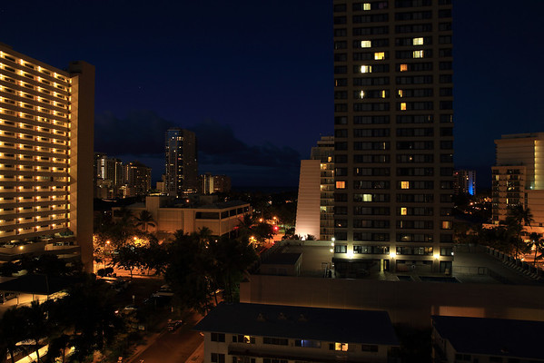 Early morning in Honolulu, Hawaii