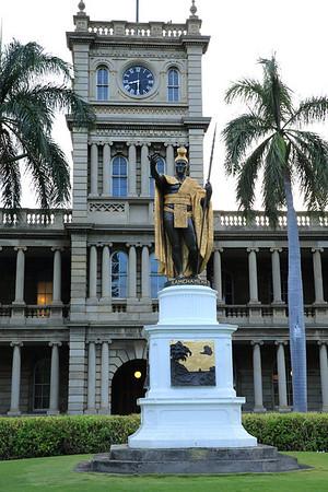 King Kamehameha welcomes you to Honolulu.
