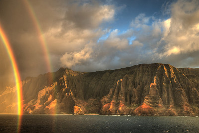 Late afternoon showers on the island of Kauai, Hawaii.
