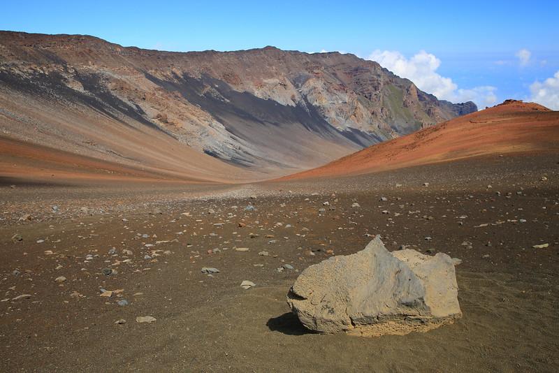 Haleakala Crater on the island of Maui.
