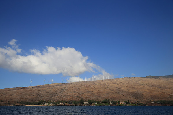22% of the electricity used on Maui comes from solar and wind production.