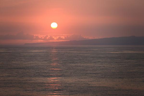 Sunrise over Maui.