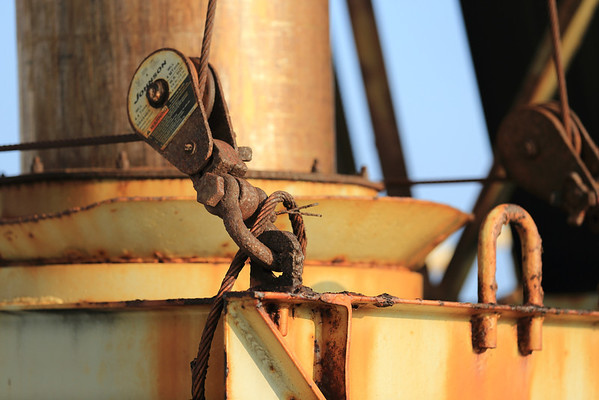 This was the view from our stateroom before we debarked in Maui.  Actually, I love rust!  It photographs really well.