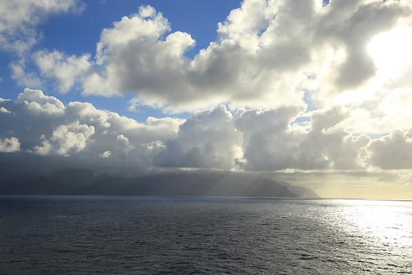 The rainy northern coast of Kuaui.