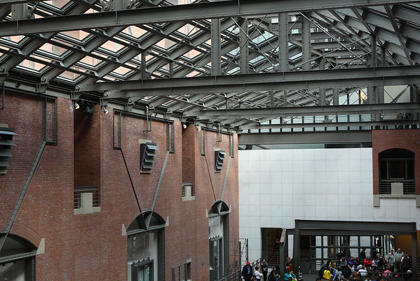 Architectural details inside the United States Holocaust Memorial Museum - Washington, D.C.