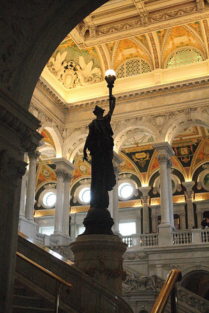 Minerva - Goddess of Wisdom - stands guard over the Library of Congress