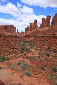 Park Avenue in Arches National Park - near Moab, Utah
