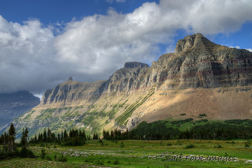 A view of the Garden Wall from the Hidden Lake Trail - Glacier National Park, Montana