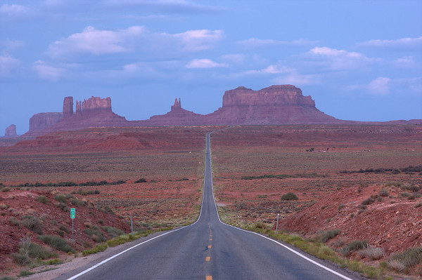 Monument Valley is located on the border of Utah and Arizona.