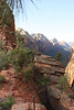 This is a typical section of trail near the top of Angel's Landing.
