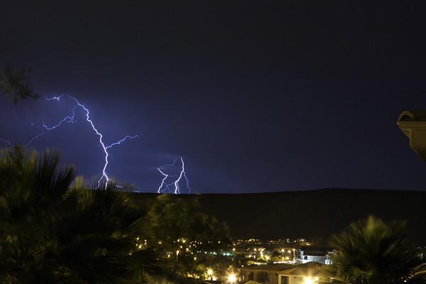A little lightning over St. George, Utah.