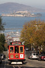 Powell Street cable car with Alcatraz in background  SF08762