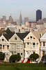 "The ""Painted Ladies"" with downtown in the background.  (I never did figure out which one of these was in ""Too Close for Comfort"")  SF08786"