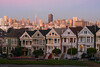 "The ""Painted Ladies"" with downtown San Francisco in background   SF081027"
