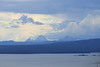 The Teton Range from above Yellowstone Lake in Yellowstone National Park - about 60 miles away.
