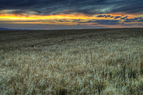 Late summer sunset over the northern end of the Big Hole Mountains in Teton Valley, Idaho.
