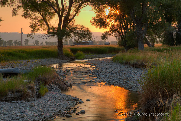 Ditch Creek flows through Antelope Flats in Grand Teton National Park - Wyoming