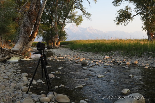 And now for a little behind the scenes shot:  I took this with my little Canon G5x point and shoot camera.  I'll be taking it on my epic hike into the backcountry in a couple weeks so I thought I should practice with it a little bit.
