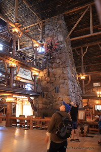 Inside Old Faithful Inn - Yellowstone National Park
