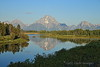 Mount Moran reflected in Oxbow Bend - Grand Teton National Park, Wyoming