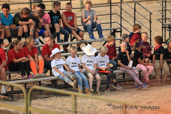 Waiting their turn at the Teton County (Idaho) Fair - Pig Wrestling